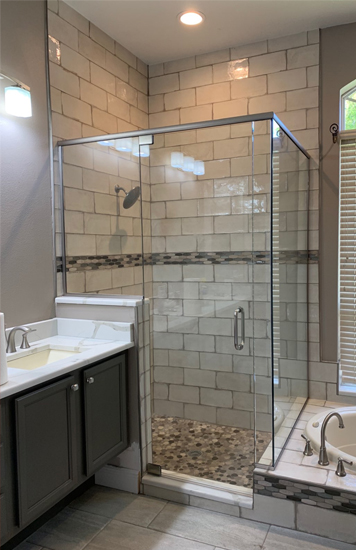 custom glass shower door